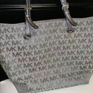 Gray MK Monogram Purse